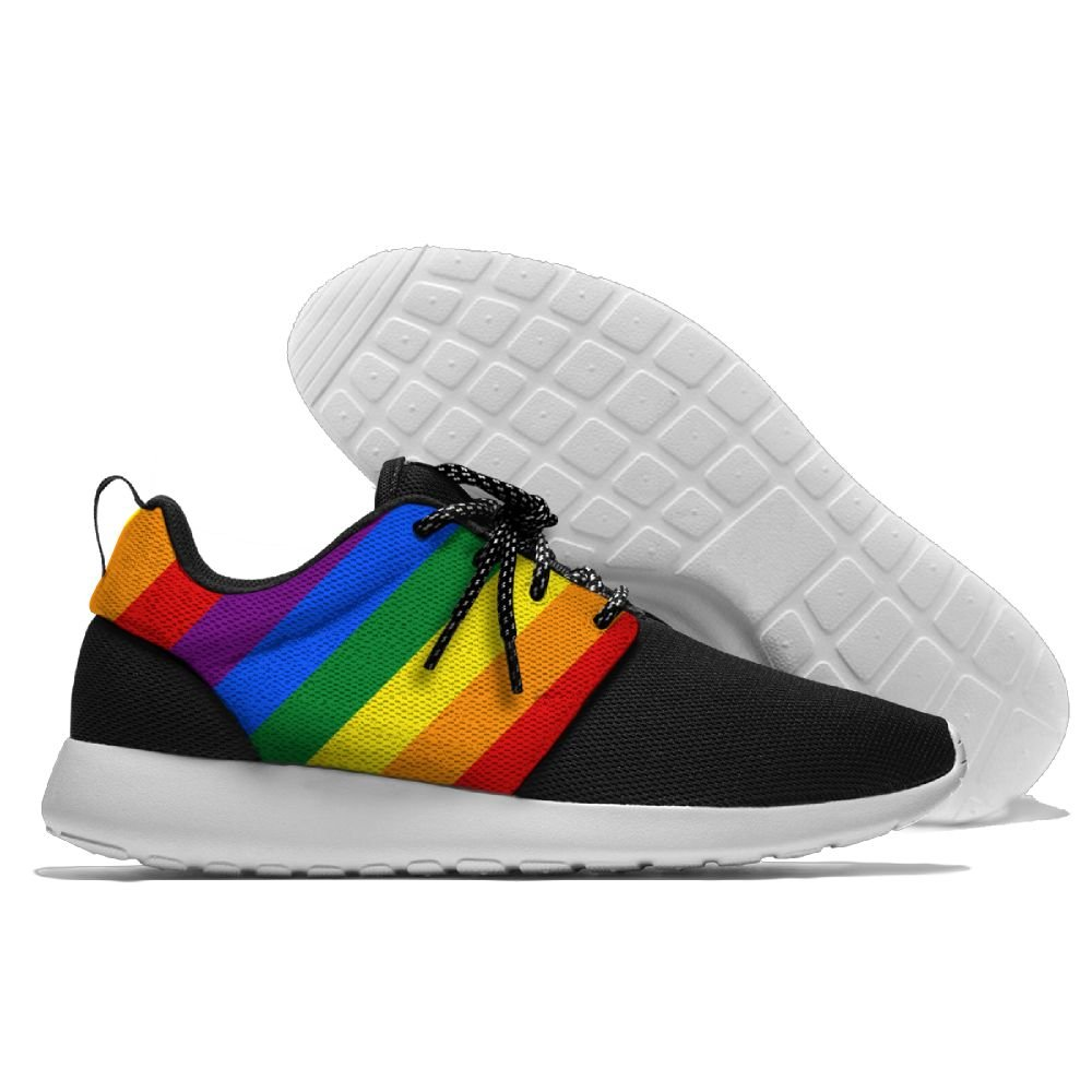 a08604eb3bca5b Amazon.com: MADSURE LGBT Pride Rainbow Flag Men's Leisure Sports Running  Sneakers: Shoes