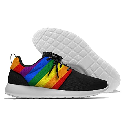 89a21109ba3d0 Amazon.com  MADSURE LGBT Pride Rainbow Flag Men s Leisure Sports ...