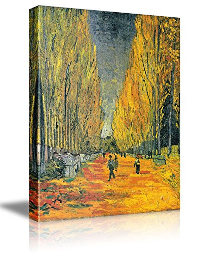wall26 Les Alyscamps by Vincent Van Gogh - Oil Painting Reproduction on Canvas Prints Wall Art, Ready to Hang - 12x18 inches ()