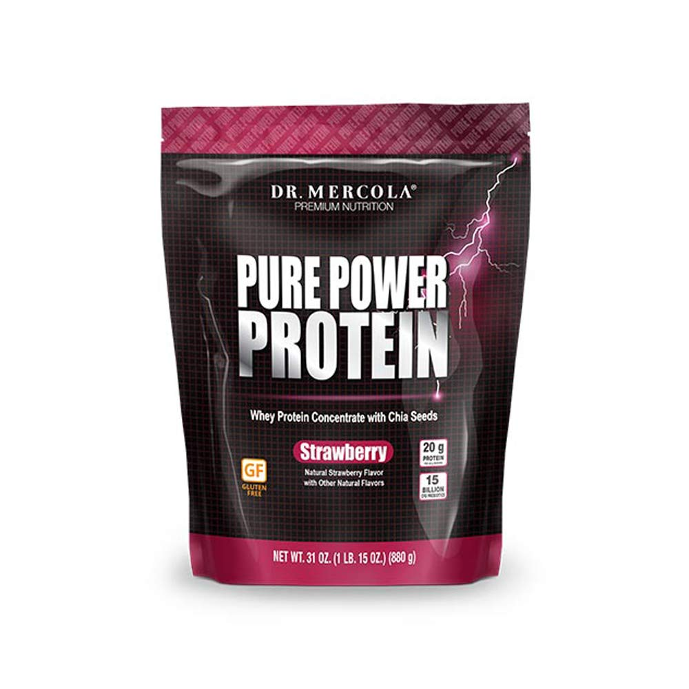 Dr. Mercola Pure Power Protein Strawberry, 31oz