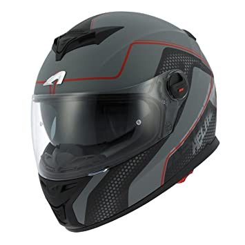Astone Helmets gt800-alveo-rgl casco Moto Integral GT 800, color rojo/