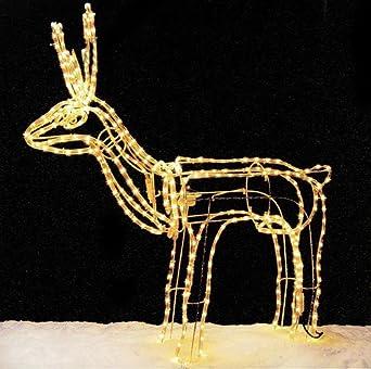 Weihnachtsbeleuchtung Rentier Beweglich.Lichterschlauch Rentier Beleuchtetet Mit Beweglichem Kopf 117cm