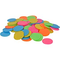 Amit Marketing Plastic Plain Token/Coins Pack of 200pc Coins