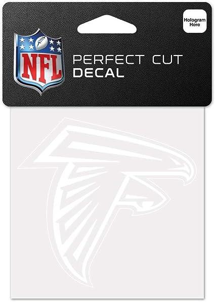 Black 4 x 4 WinCraft NFL Atlanta Falcons 95292010 Perfect Cut Color Decal