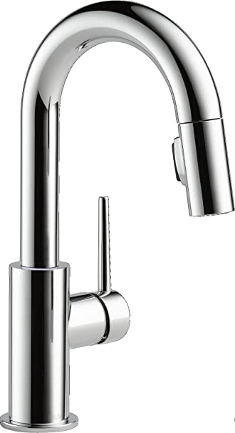 Delta Faucet Trinsic Single Handle Bar Prep Kitchen Sink Faucet With
