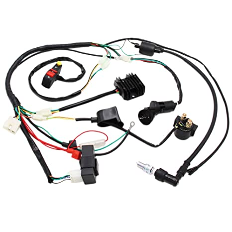 Complete Electrics Wiring Harness D8EA Spark Plug CDI Ignition Coil on