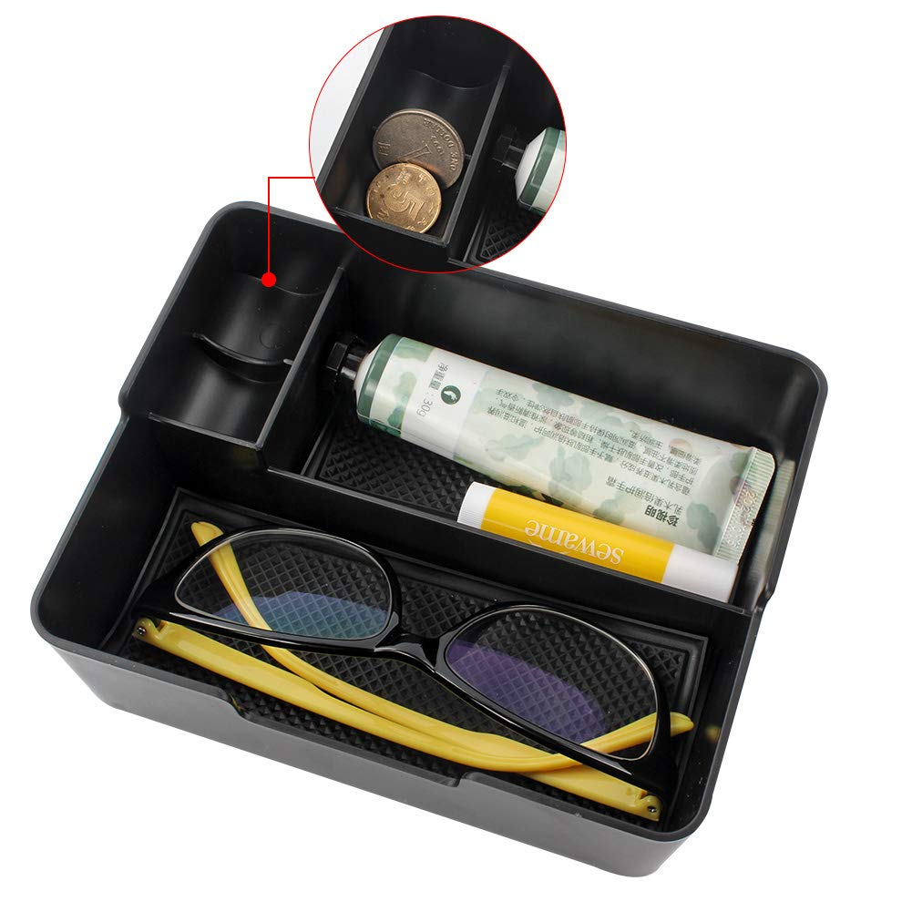 LTD Armrest Insert Storage Box Tray with Sunglasses and Coins Holder GES CO GES Center Console Organizer for Tesla Model 3 Accessories