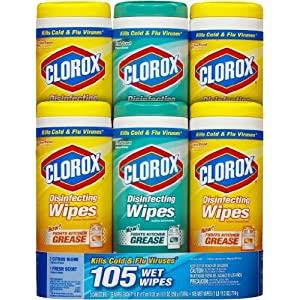 Best Epic Trends 61-KYfjgTJL._SS300_ Clorox Company Disinfecting Wipes, 3-Pack, White (Units per case: 2)