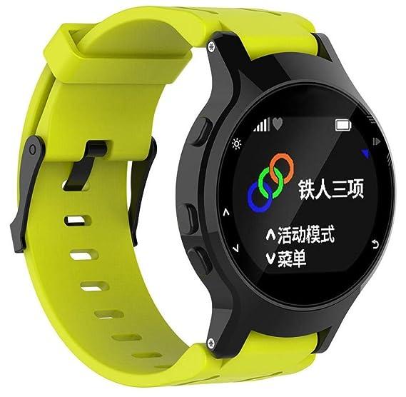 singleluci Reemplazo para Garmin Forerunner 225 reloj GPS, banda reloj de pulsera de silicona +