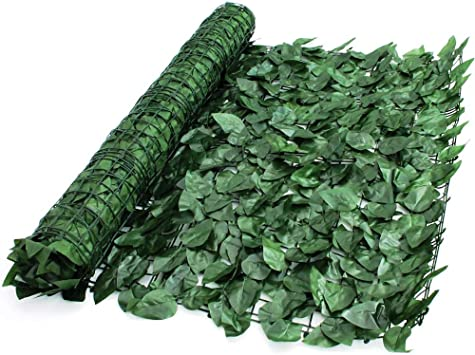 1m x 3m Artificial Ivy Leaf Hedge Privacy Screening Garden Fence Panel Roll