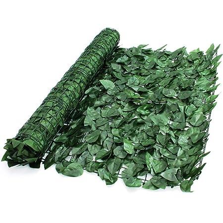 True Products Ivy 1 x 3 m Wonderwal Künstliche Ivy Leaf Heckenschere Platten auf Rolle Sichtschutz Zaun – Grün