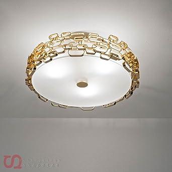 Terzani Leuchten terzani deckenleuchte ceiling l gold amazon de beleuchtung
