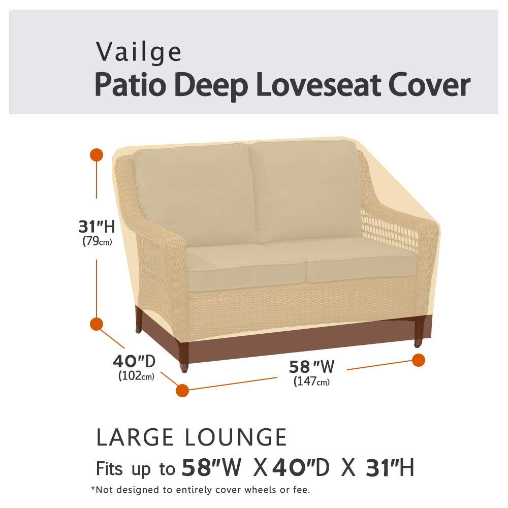 Amazon.com: Vailge - Funda para sofá de 2 plazas, resistente ...