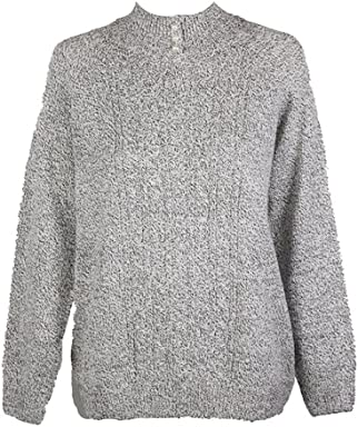 Karen Scott Plus Size Cable-Knit Mock-Neck Sweater