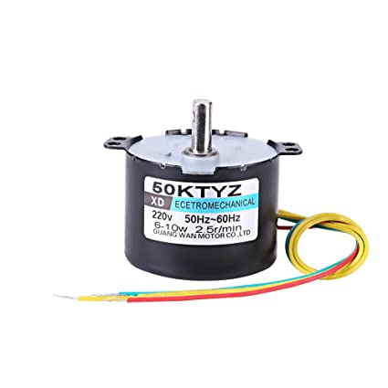 50ktyz ac 220v 10w 0 5a small electric low speed permanent magnet  synchronous motor cw/