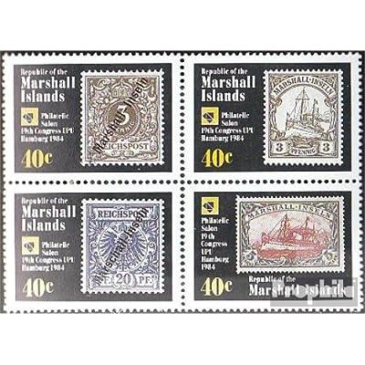 marshall-îles 15-18 bloc de quatre (complète.Edition.) 1984 union postale universelle congrès (Timbres pour les collectionneurs)
