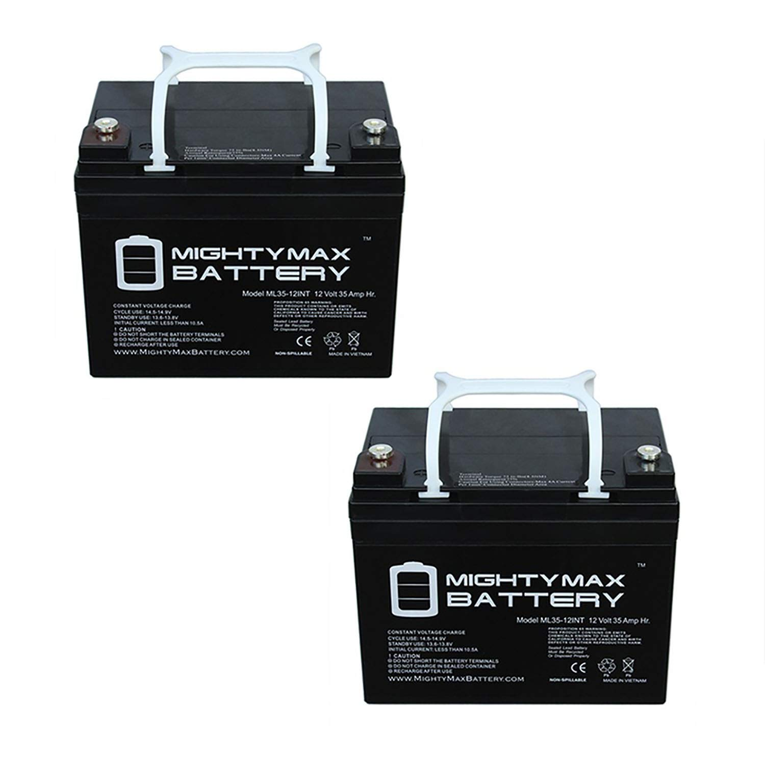 Mighty Max Battery 12V 35AH INT Battery Replaces Golden Technology,Companion - 2 Pack Brand Product