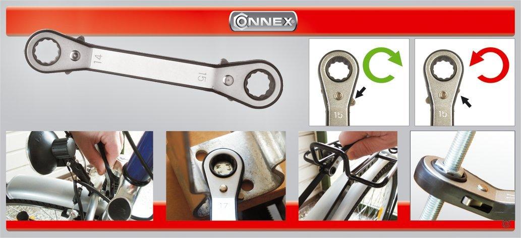 CONNEX Knarren-Ringschl/üssel 12 x 13 mm abgewinkelt