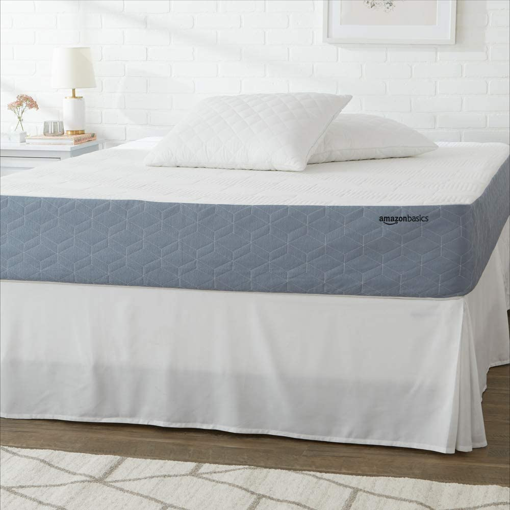 AmazonBasics Cooling Gel-Infused, Medium-Firm, Memory Foam Mattress, CertiPUR-US Certified - 10 Inch, Twin