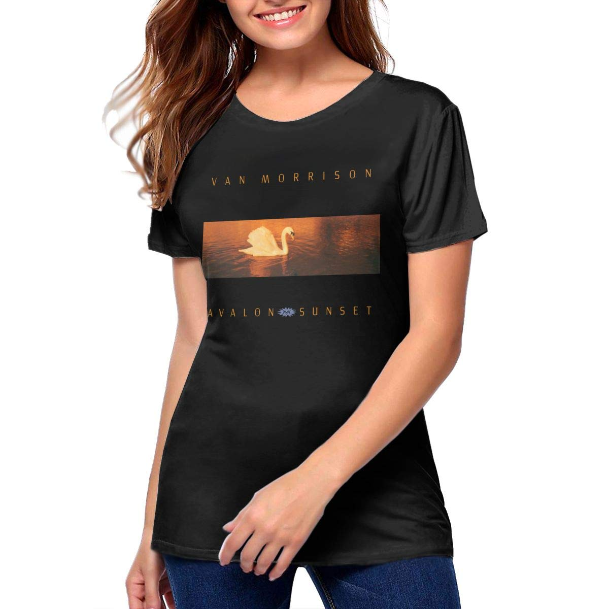 Van Morrison Avalon Sunset Sports And Fitness Womens Printed Shirts