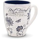 "Mark My Words 66310 Pavilion Gift 4.75"" Best Friend Mug, 20 oz, Multicolor"