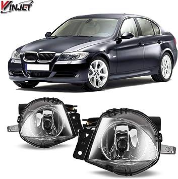 For 2006-2008 BMW E90 325i 328i 330i 335i CLEAR BUMPER FOG LIGHT LAMPS  PAIR