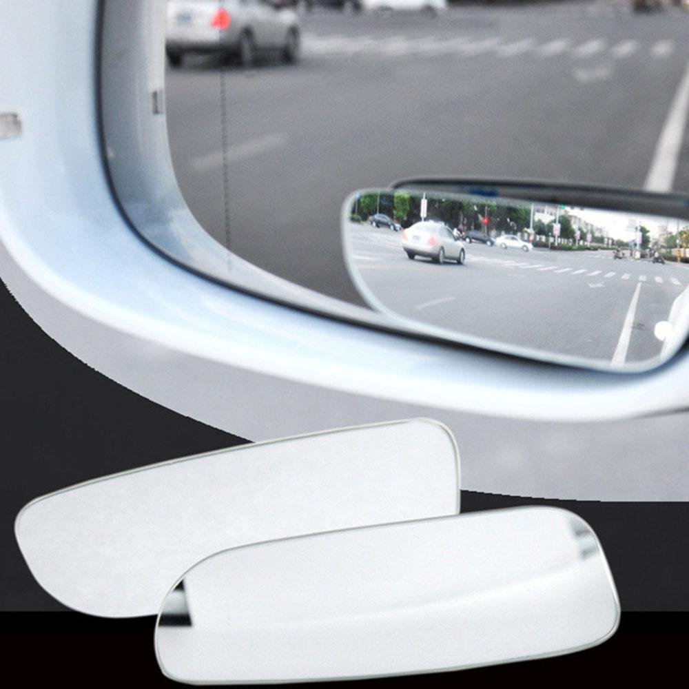 Aolvo No-Blind-Spot Rearview Mirror, Mini Blind Spot Mirror 360° Adjustable Frameless Car Stick on Wide Angle Mirror for All Universal Vehicles Pack of 2 (Slim)