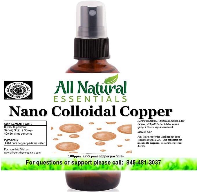 All Natural Essentials Nano Colloidal Copper Liquid