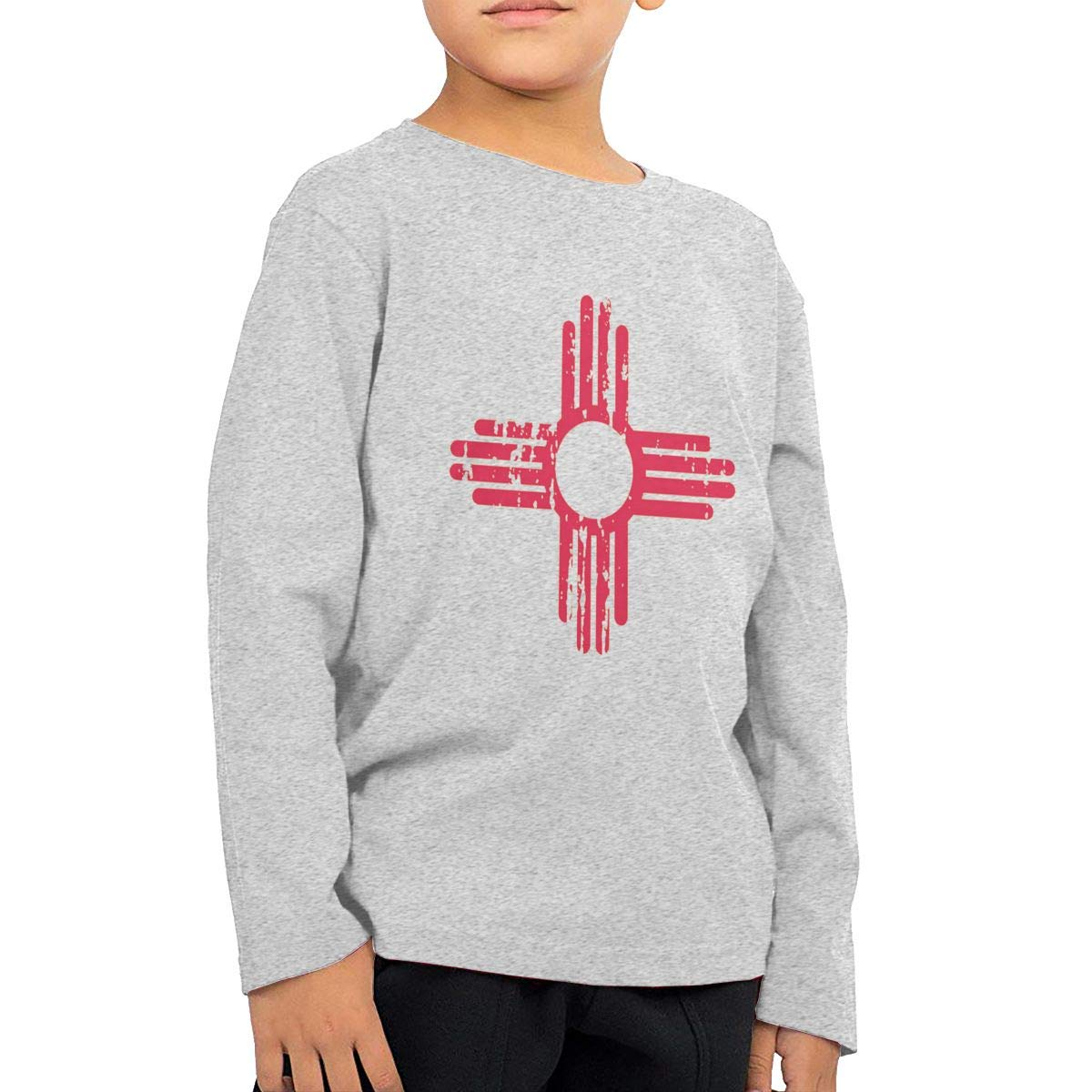 CY SHOP New Mexico Sun Symbol Childrens Boys Cotton Long Sleeve T Shirts