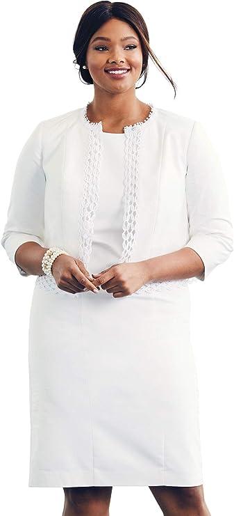 Jessica London Womens Plus Size Ponte Jacket Dress Suit