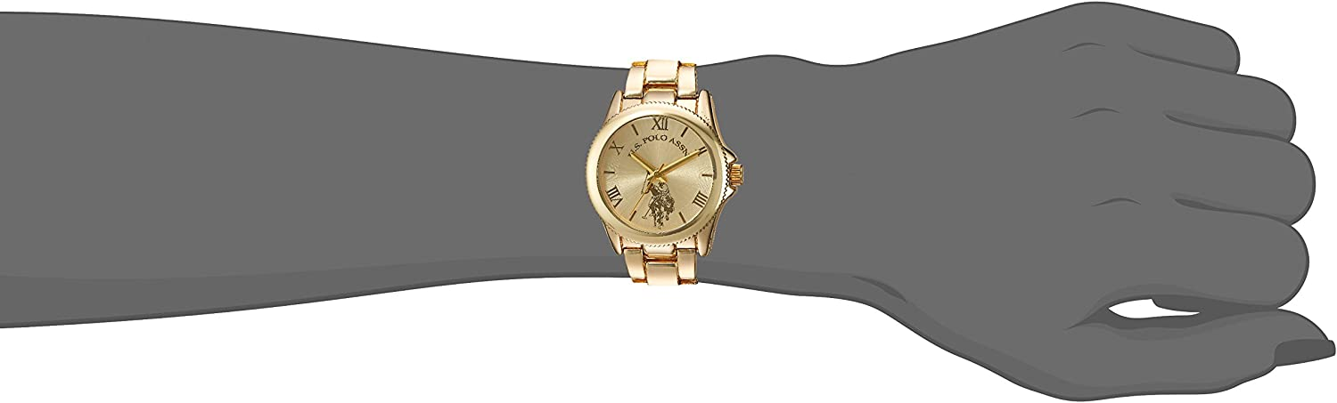 Amazon.com: U.S. Polo Assn. Women's Analog-Quartz Watch with Alloy Strap, Gold, 7 (Model: USC40043): Watches