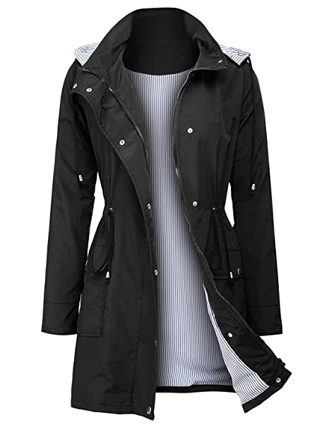 classic styles 2019 factory price cheap prices UUANG Raincoats Waterproof Rain Jacket Active Outdoor Detachable Hooded  Women's Trench Coats