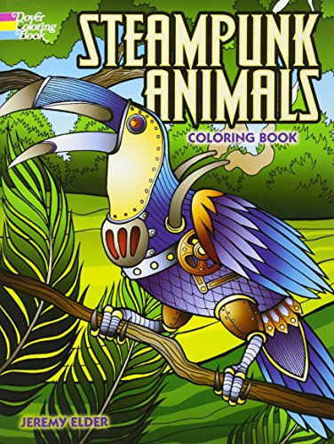 Steampunk Animals Coloring Book (Adult Coloring) 3