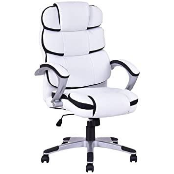 Giantex High Back PU Leather Ergonomic Office Chair  WhiteAmazon com  Giantex High Back PU Leather Ergonomic Office Chair  . Ergo Office Chair Amazon. Home Design Ideas