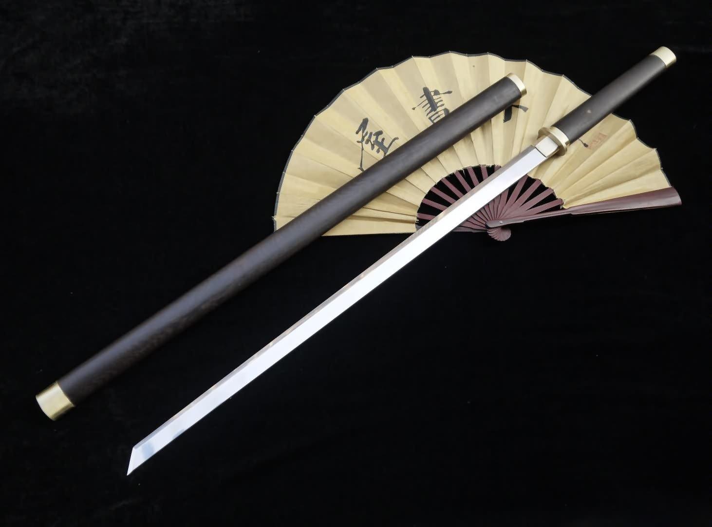 Longquan sword/Tang dao/Medium carbon steel/Rosewood scabbard/Full tang/Length 39''