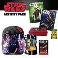 Star Wars Activity Pack - 2 Star Wars Coloring Books, 24 Ct. Crayola Crayons, Star Wars Pencil Box, Star Wars Puzzle, Star War Throw & 16 Star Wars Backpack (7 Pc. Set)