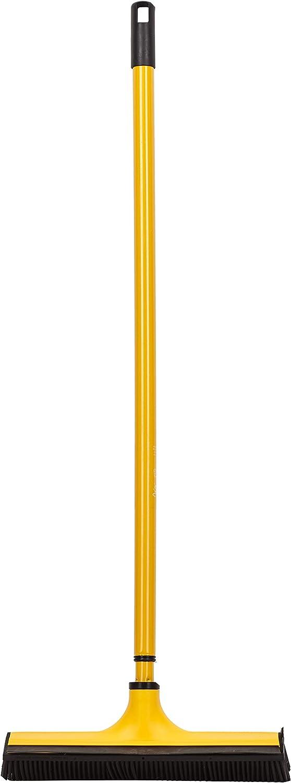 Teleskop-Stiel und Gummilippe zum m/ühelosen Entfernen von Tier- Haaren V7 Universal-Kehrbesen Staub blau V-Besen mit V-f/örmigen Borsten Schmutz Wasser