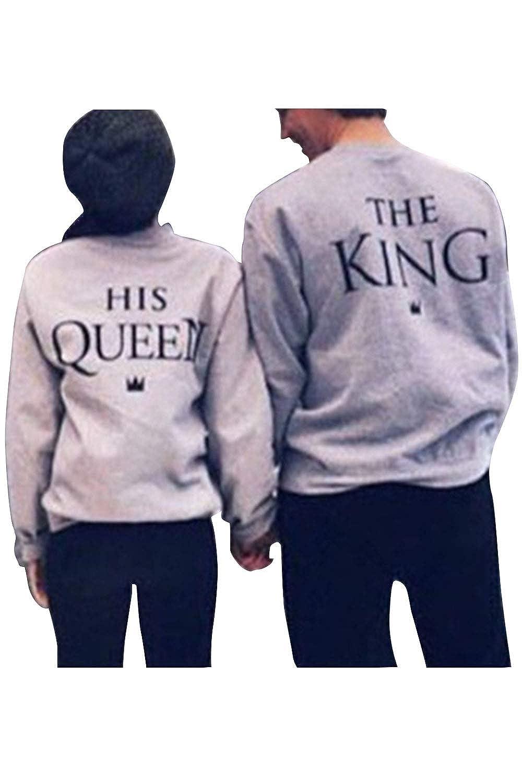 TALLA ES Women L/Men M/CN Women L/Men M. Pareja Sudadera A Juego Hombres Mujeres King Queen Pullover Pack