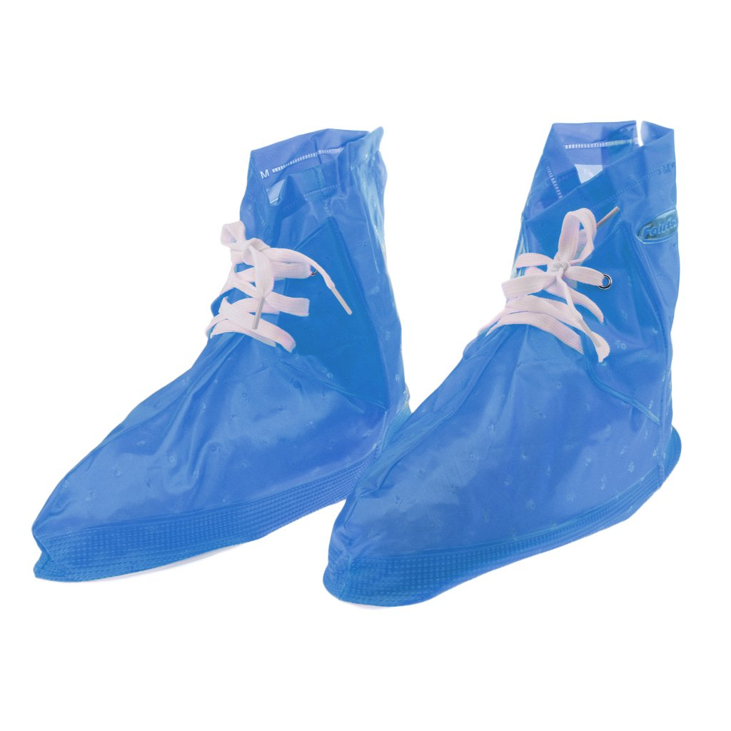 Prettyia Waterproof Shoes Protector Cover Camping Fishing Gardening Farming Rain Snow Boots Overshoes for Women & Men