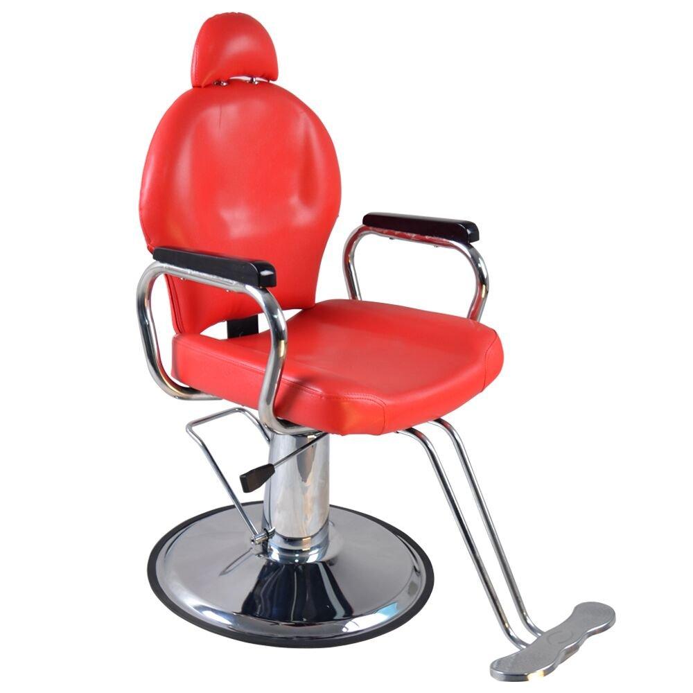 Amazon.com: BarberPub Reclining Hydraulic Barber Chair Salon Styling Beauty  Spa Shampoo 9838 (Red): Home U0026 Kitchen