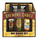 premium hot sauce - Brewers Hot Sauce Set, 6 Pack Premium Hot Sauces (3 Fl. Oz.)