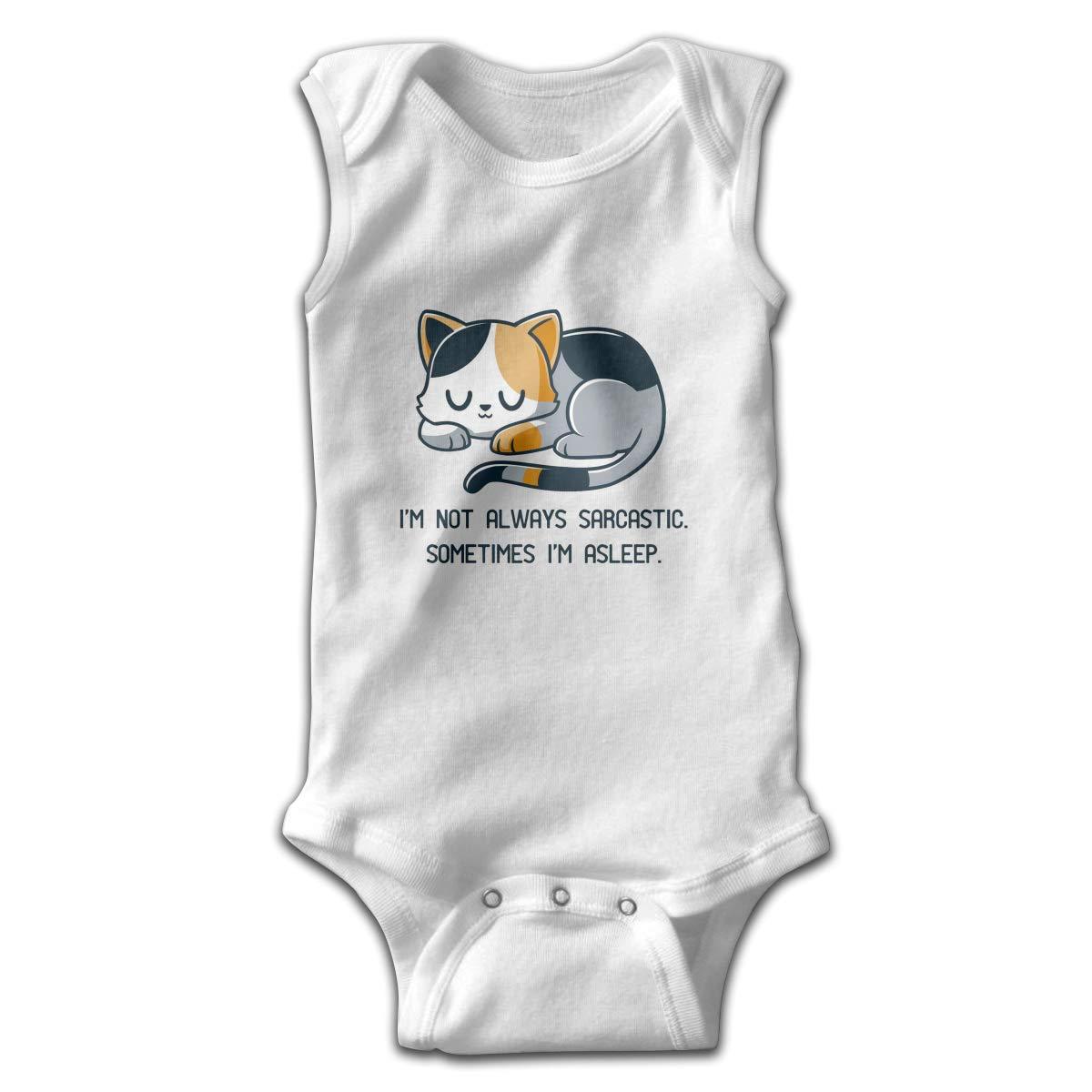Im NOT Always Sarcastic Smalls Baby Onesie,Infant Bodysuit Black