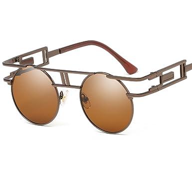 Frauen Retro Rund Rahmen Sonnenbrille UV400 67p8kFf
