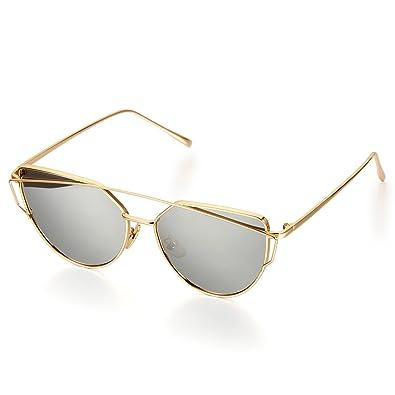 Aroncent Lunettes de Soleil Classique Polarisé Frame Alliage pour Femme et Homme Eyewear Multi-choix QvYEFO63