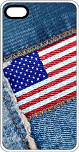 American Flag Levis Clear Rubber Case for Apple iPhone 4 or iPhone 4s