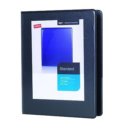 amazon com 1 2 staples standard 5 1 2 x 8 1 2 mini view binder