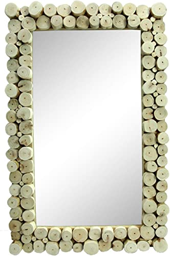roro Distressed Wood Mounted Hanging Framed Mirror