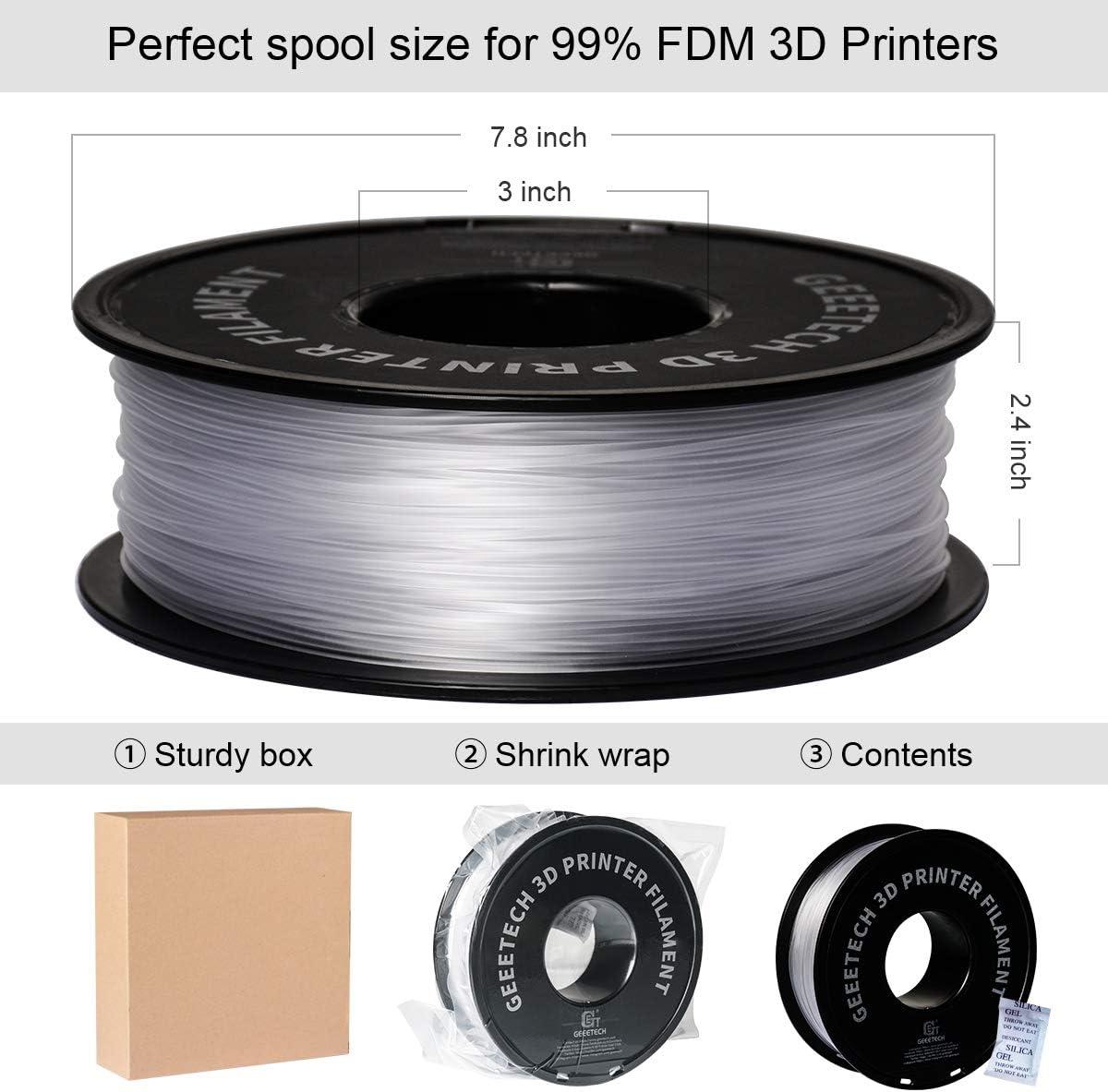 pour imprimante 3D GEEETECH Bobine de 1/kg de filament en PETG /Ø 1,75/mm