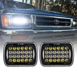 DOT 5x7 Inch LED Rectangular LED Headlight Projector Headlamp Replacement H6054 H5054 H6054LL 69822 6052 6053 For Jeep Wrangler YJ Cherokee XJ Truck 4X4 Offroad(1Pair)