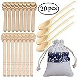 20 Pack Mini Wood Honey Dipper Sticks and Honey
